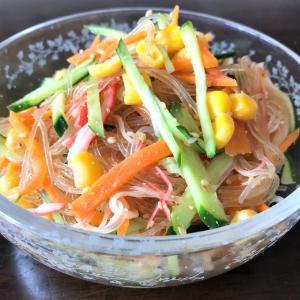 レンチンで♪味シミシミ春雨サラダ(≧▽≦)