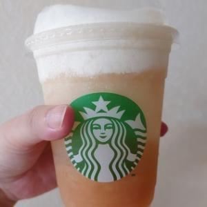 Starbucksのジューシー ピーチ フラペチーノ@桜新町