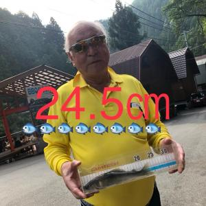 出ました〜〜24.5センチ 三重県中瀬氏