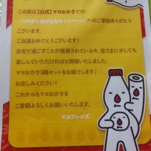 大阪限定マヨおかきやその場系当選ヾ(*´∀`*)ノ