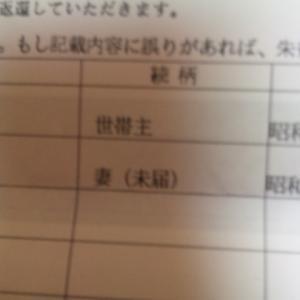 続柄は妻(未届) 10万円給付金申請しました。