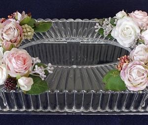 ティッシュケースの花飾り