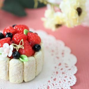 ぎゅぎゅっと いちごのシャルロットケーキ