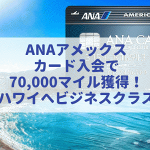 ANAアメックスカード入会で最大7万マイル獲得!その具体的なステップについて詳しく解説。(2020年6月最新版)