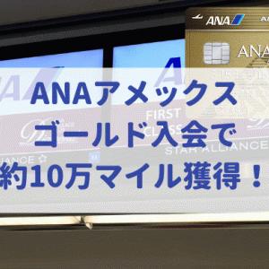 ANAアメックスゴールド入会でなんと約10万マイル獲得!チャンスは6月末まで!(2020年6月最新版)