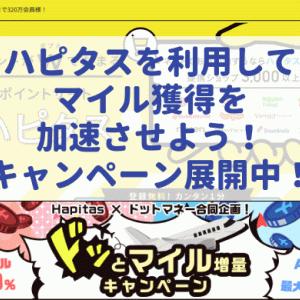 【ハピタス】ANA93.75%、JAL80%で移行!ドッとマイル増量キャンペーン第2弾!チャンスはまたやってきた(笑)