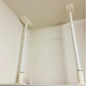 我が家の防災対策!食器棚も冷蔵庫も突っ張り棒で安全に!