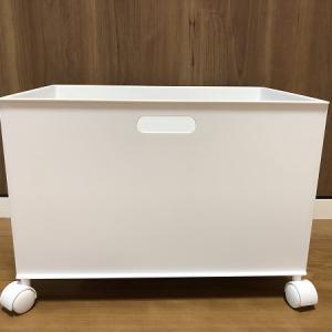 ニトリ+ダイソー◆Nインボックスとキャスターで簡単可動式収納箱!