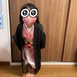 鬼滅の刃コスプレ◆3歳でも禰󠄀豆子♪可愛すぎ♪