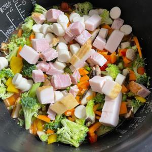 炊飯器で簡単◆ケチャップライスで時短♪