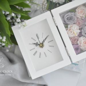 ♩お花の贈り物、お祝いに♩プリザーブドフラワーの花時計