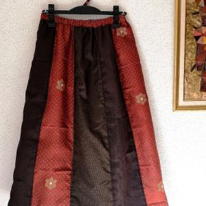 キルティングのリバーシブルスカート