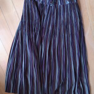 ギャザースカートをパンツにリメイク