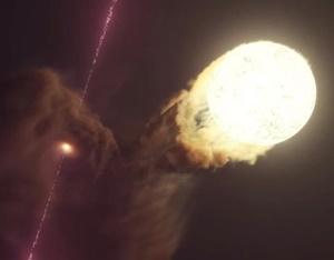 宇宙に存在する奇妙な星マイクロクエーサーの再現動画が公開