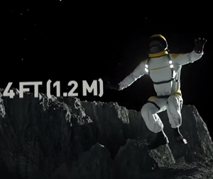 太陽系天体の重力特徴を人のジャンプでリアル再現した動画1