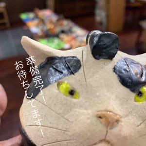 山梨 猫ガレージ 個展 猫神展始まります