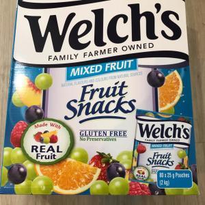 【オーストラリアコストコ】個包装でいい! Welch's Fruit snacks