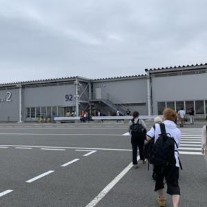 大阪サミット前で警護車両とすれ違い