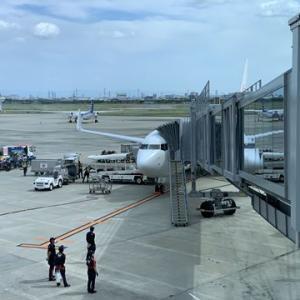 伊丹に空港に着いたら、いいタイミングでモノレールに乗れた