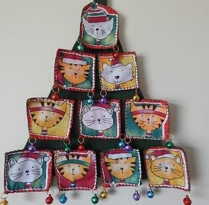 ねこパネルクリスマスツリー