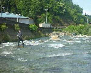 白川二回目の鮎釣り