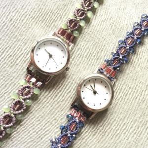 マクラメの腕時計