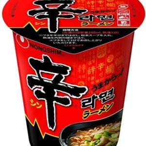 辛ラーメン ←食塩含有量3.4g 日本のカップラーメン ←食塩含有量8g以上