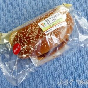★【東北便利商店麵包】[7プレミアム]濃厚ソース仕立ての鶏メンチサンド(Y11)