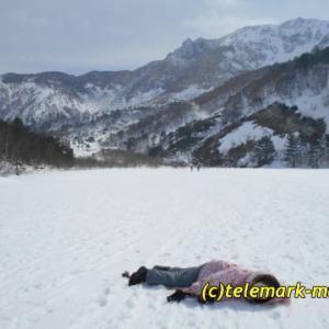 3月、イエローフォールに行ってきました~(子供と一緒に山スキー)