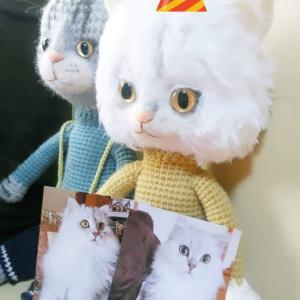 オーダーの猫くん♡制作進めています。