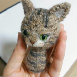あみぐるみでペットの猫ちゃん作り、今度は小さめなコです(*^^*)