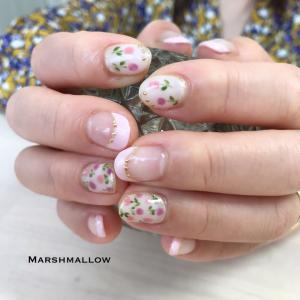 春のお花ネイル@石狩 ネイルサロン マシュマロ
