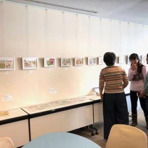 『手帳スケッチ』受講生作品展が始まりました NHK文化センター青山教室 講師:関本紀美子