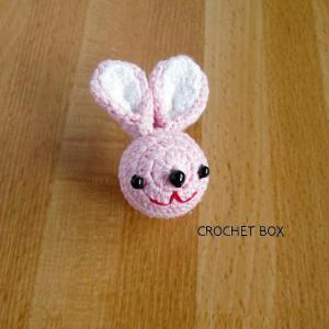 ピンクのウサギさんのパーツが仕上がりました。