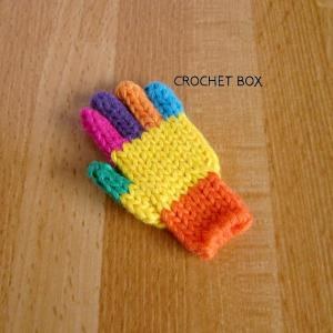 七色の小さい手袋のパーツが仕上がりました。