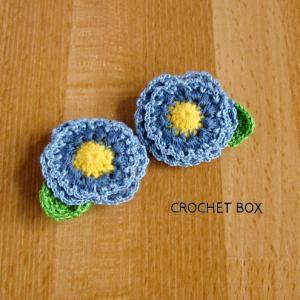 かぎ針編み♦青い小さいお花のパーツが仕上がりました。