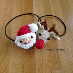 minne(ミンネ)さんよりクリスマス★ヘアゴム サンタさんとトナカイさんをお買い上げ頂きました。