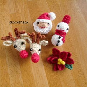 minne(ミンネ)さんよりクリスマスのブローチ サンタさんとトナカイ、雪だるまにポインセチアを お買い上げ頂きました。