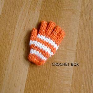 ミニチュア*オレンジ色の小さい手袋のパーツが仕上がりました。