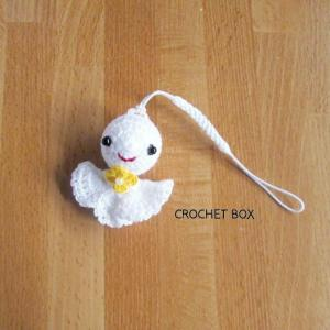 minne(ミンネ)さんより編みぐるみのてるてる坊主のストラップをお買い上げ頂きました。