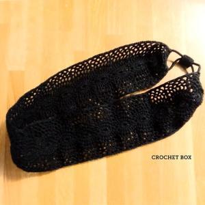 minne(ミンネ)さんよりオーダー品のレース編み♥カチューム黒が仕上がりました。