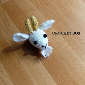minne(ミンネ)さんへ再販の編みぐるみのヤギさんのブローチが仕上がりました。