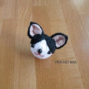 編みぐるみのハチワレ猫ちゃんのパーツ仕上がりました。