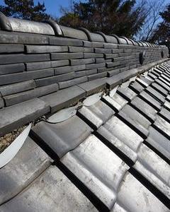 板橋区の神社で、屋根修理工事