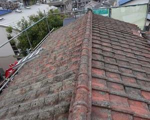 板橋区の赤塚で、屋根葺き替え工事