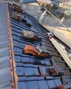 板橋区の赤塚で、瓦屋根取り替え工事