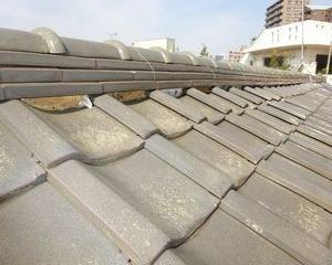北区の志茂で、屋根瓦修理工事