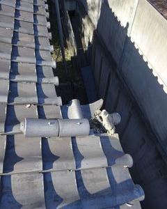 和光市の白子で、瓦屋修理工事