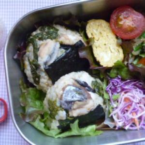 サワラと菜の花おむすびのお弁当