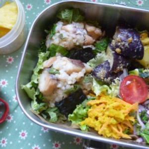 鯛と大葉おむすびのお弁当